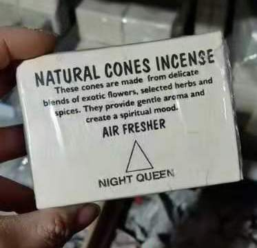 natural cones incense night queen