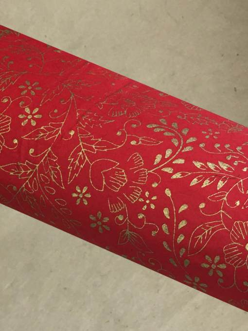 Red Royal Gift Wrapping Paper Sheet