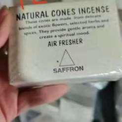 natural cones incense saffron