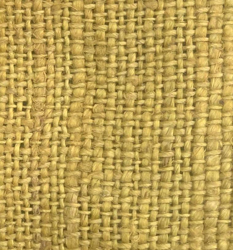 hemp light yellow color fabric