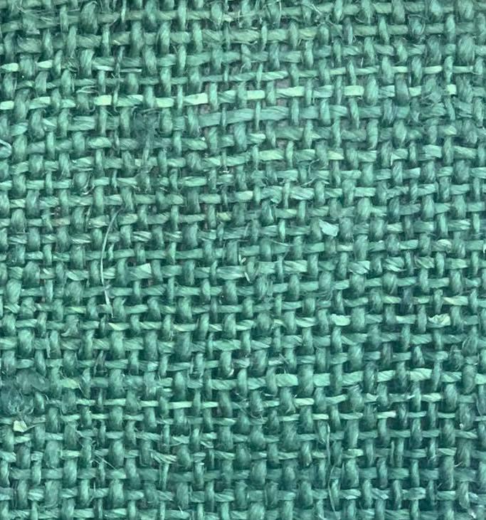 hemp turquoise color fabric