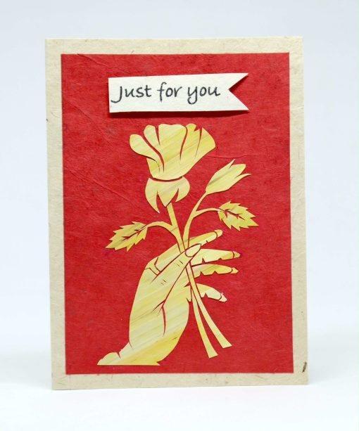 Just For You Chhawali Lokta Greeting Card