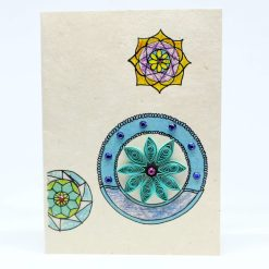 Mandala Quilling Lokta Greeting Card Turquoise Color