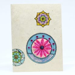 mandala quilling lokta card pink color