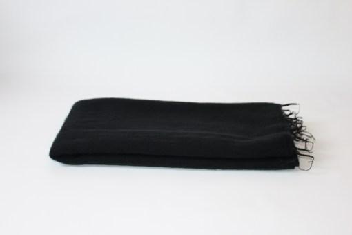 Yak Wool Shawl Black Color