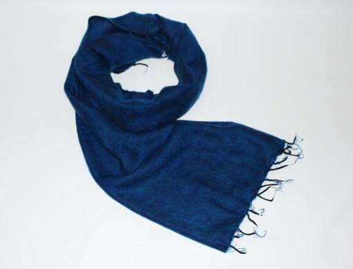 Yak Wool Shawl Royal Blue Color