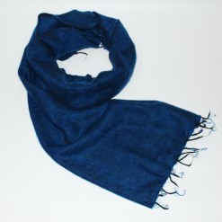 Yak Wool Shawl Royal Blue Color