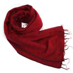 Yak Wool Shawl Maroon Color
