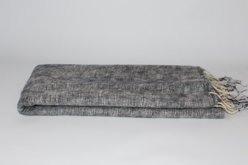 Yak Wool Shawl Light Grey Color