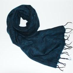 Yak Wool Shawl Petrol Blue Color