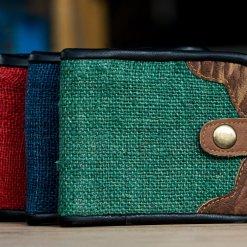 Pure Hemp Bi-fold Wallet Suede