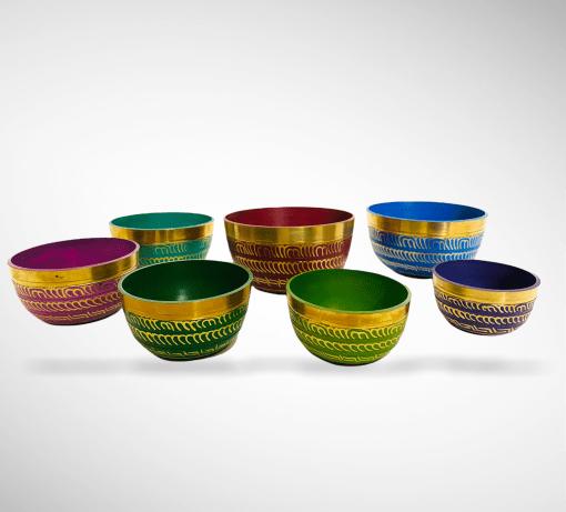 Seven Chakra Colors Healing Singing Bowls