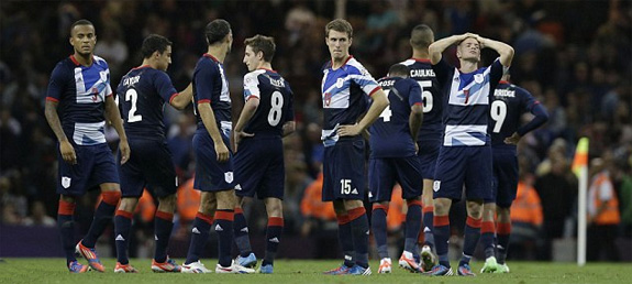 Dejected British Olympic Footballers