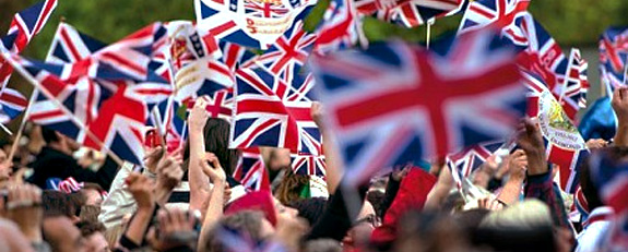 Olympics British Flag Waving
