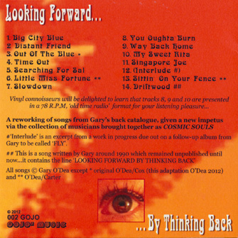 Looking Forward By Thinking Back - Back Cover