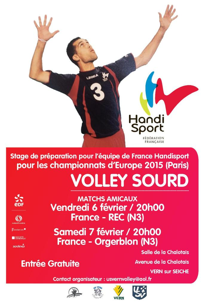 Affiche Volley Sourd France Vern
