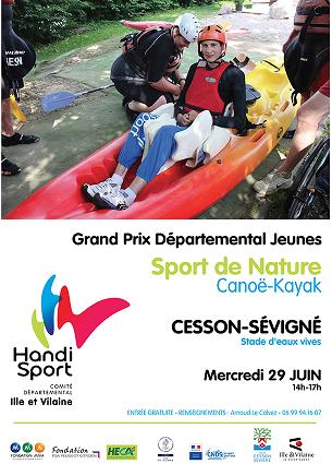 affiche Sports Nature Kayak Cesson 29Juin2016