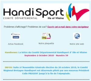 Couverture du Handinews no 59