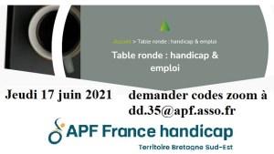 Logo APF France Handicap Territoire Bretagne Sud Est