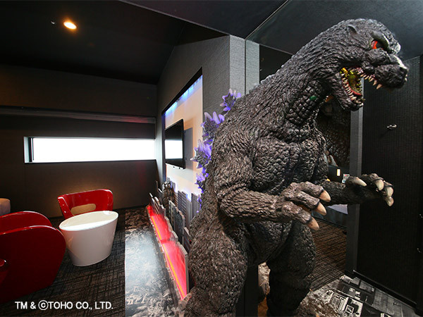 【東京近郊一天行程】江之島、鎌倉 格拉斯麗新宿酒店 Hotel Gracery Shinjuku - 「GODZILLA ROOM」內的巨型哥斯拉模型