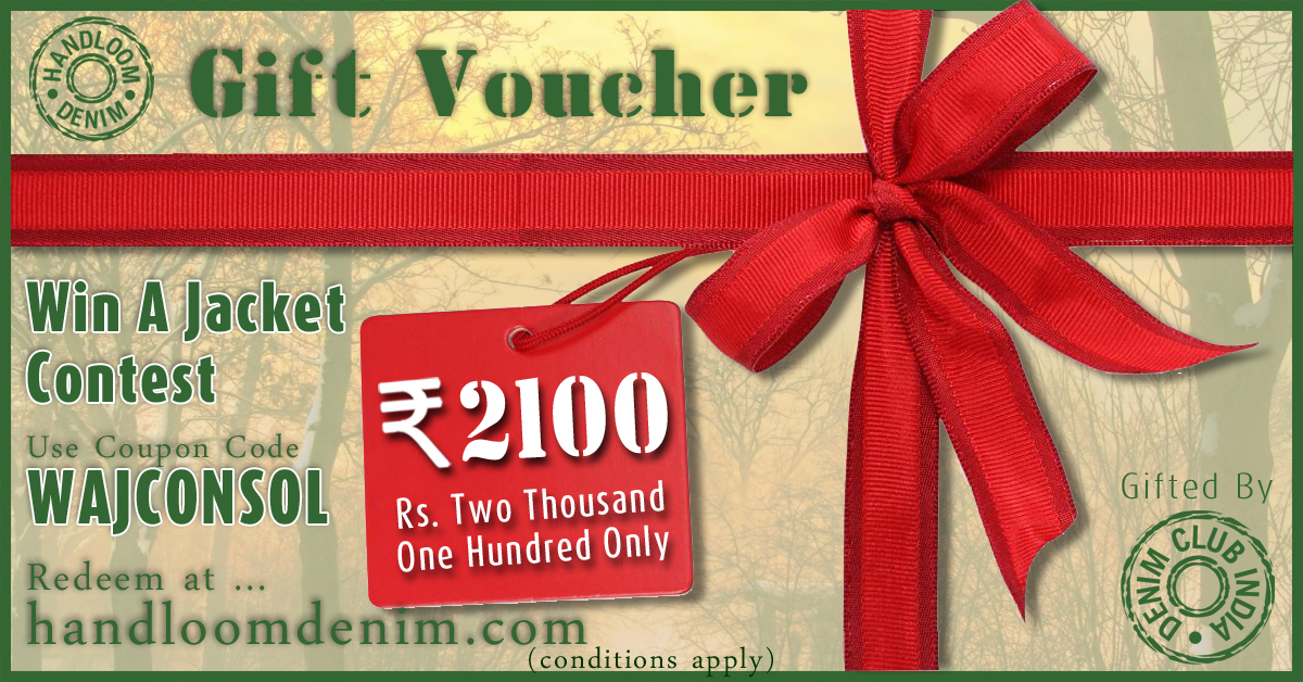 Rupees 2100 Gift Voucher for Win A Jacket Contest