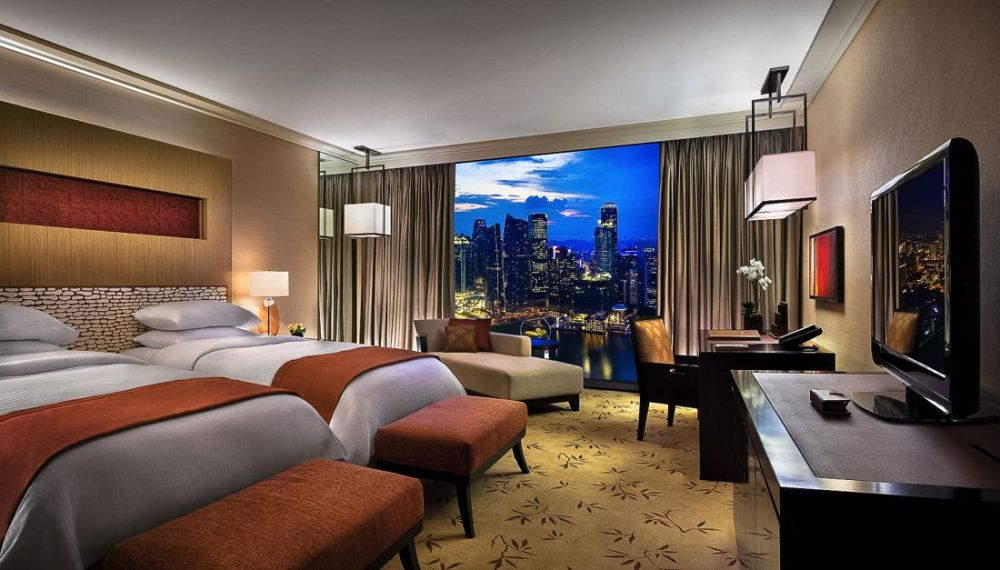 Marina Bay Sands Hotel Infinity Pool and Hotel Room Singapore (8)