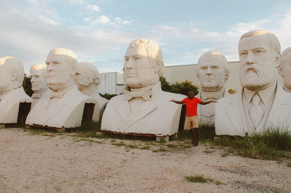 Pit stop in Houston, Texas? Go check out the giant Beatles and US Presidents! (7)