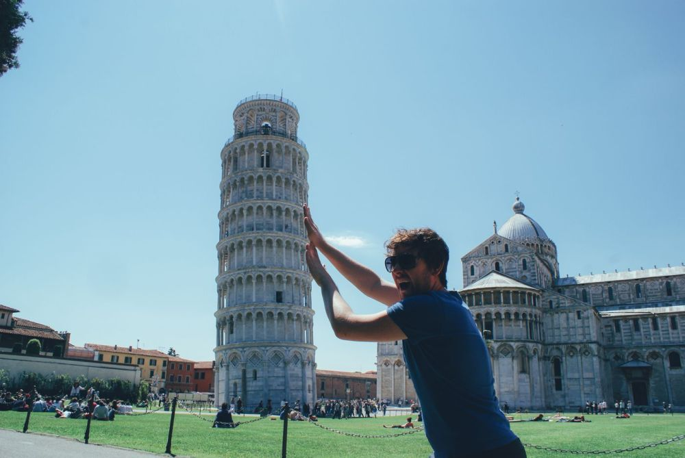 Hopping, Swimming and Leaning in Pisa! Leaning Tower Of Pisa. (9)
