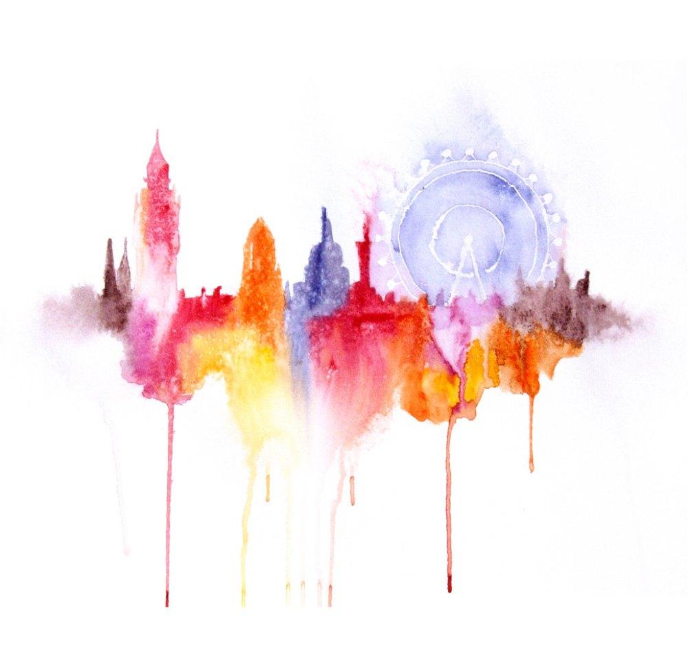 Watercolour Cities by Elena Romanova Artist (6)