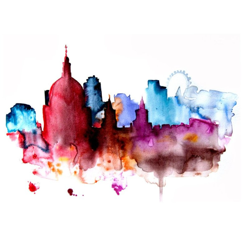 Watercolour Cities by Elena Romanova Artist (14)
