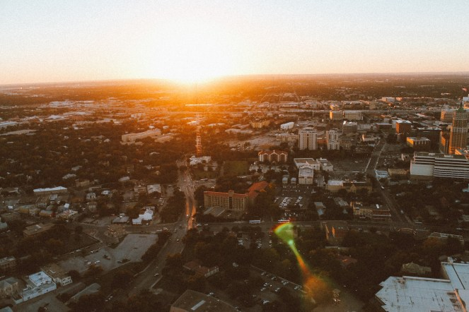 Sunset in San Antonio at The Tower of The Americas (9)