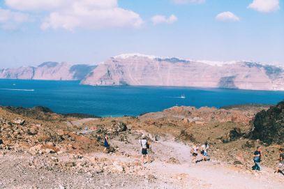 Conquering Volcanos in Santorini, Caldera, Sailing, Boat Trip, Greece (23)