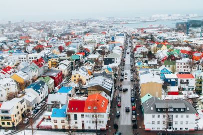 Afternoon in Reykjavik, Iceland Before Storm (13)