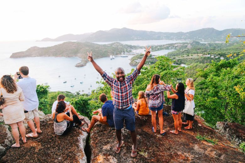 The Party (And Stunning Sunset) At Shirley Heights, Antigua (12)
