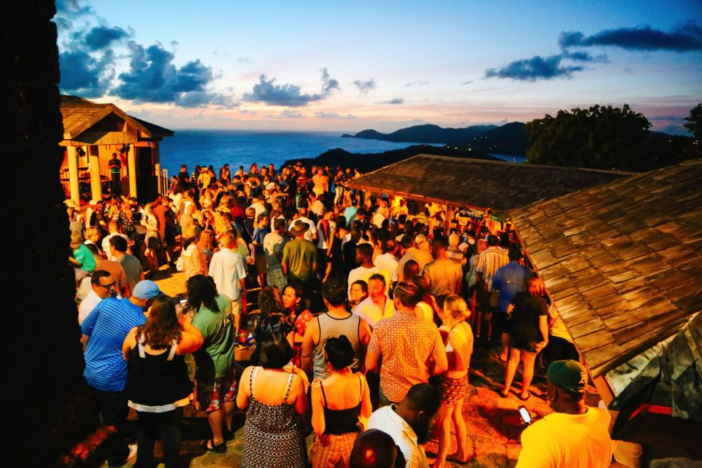 The Party (And Stunning Sunset) At Shirley Heights, Antigua (19)