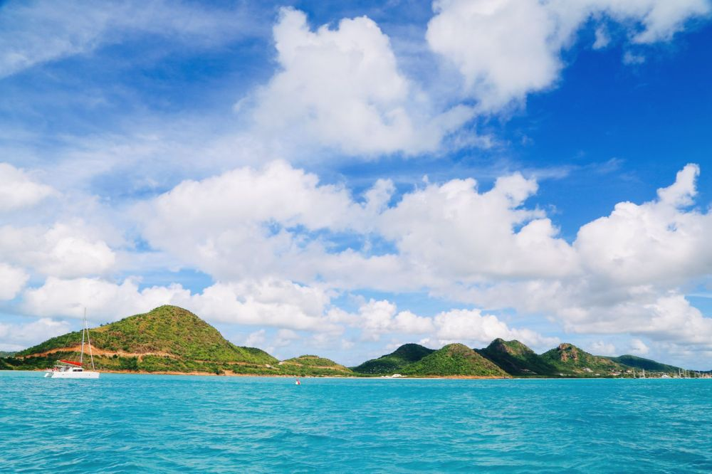 Sailing In Antigua In The Caribbean (1)