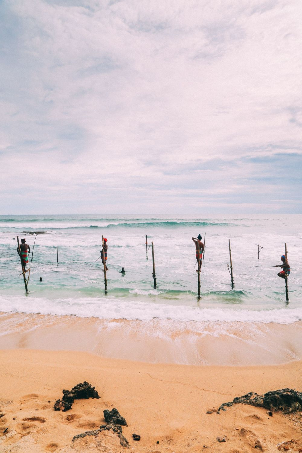 The Ancient Tradition Of Stilt Fishing… In Sri Lanka (20)
