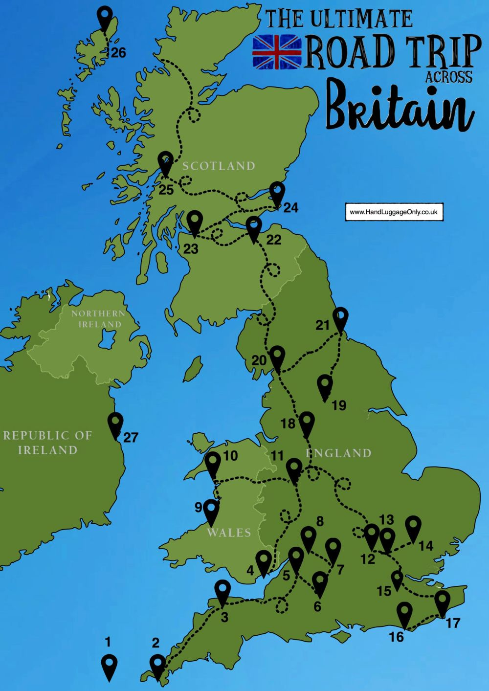 Map Of North England And Scotland.26 Best Places In Britain To Visit Hand Luggage Only Travel