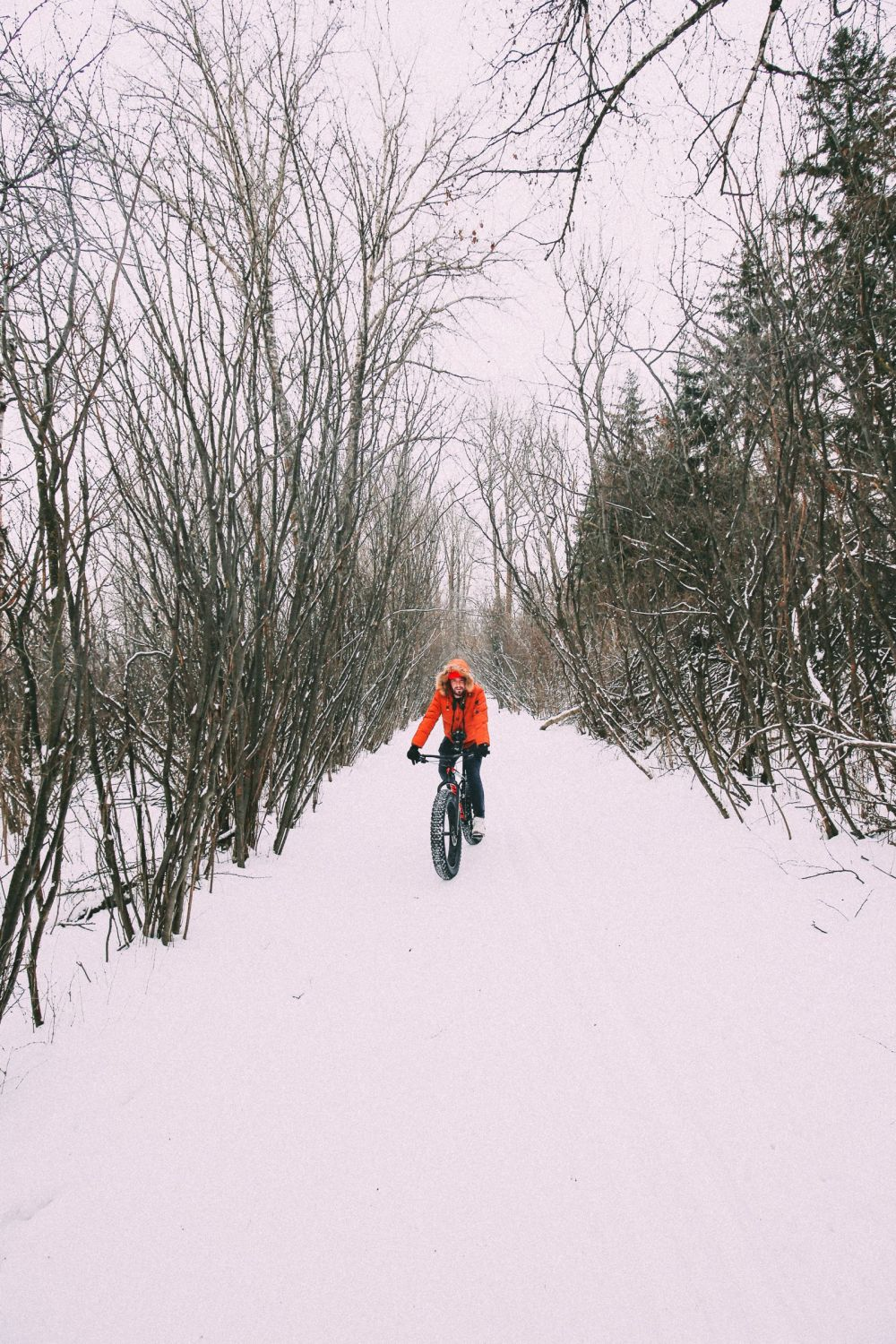 Fat Biking Across The Frozen River Valley To The Ice Castles Of Edmonton, Canada (23)