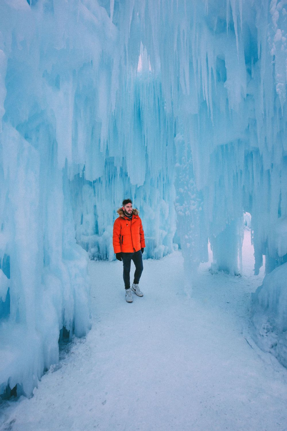 Fat Biking Across The Frozen River Valley To The Ice Castles Of Edmonton, Canada (34)
