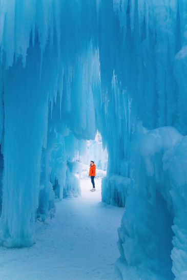 Fat Biking Across The Frozen River Valley To The Ice Castles Of Edmonton, Canada (43)