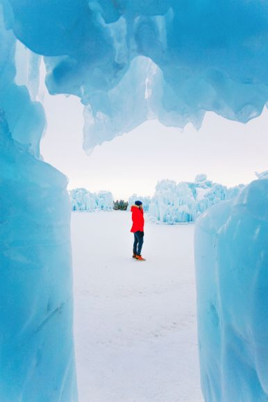 Fat Biking Across The Frozen River Valley To The Ice Castles Of Edmonton, Canada (48)