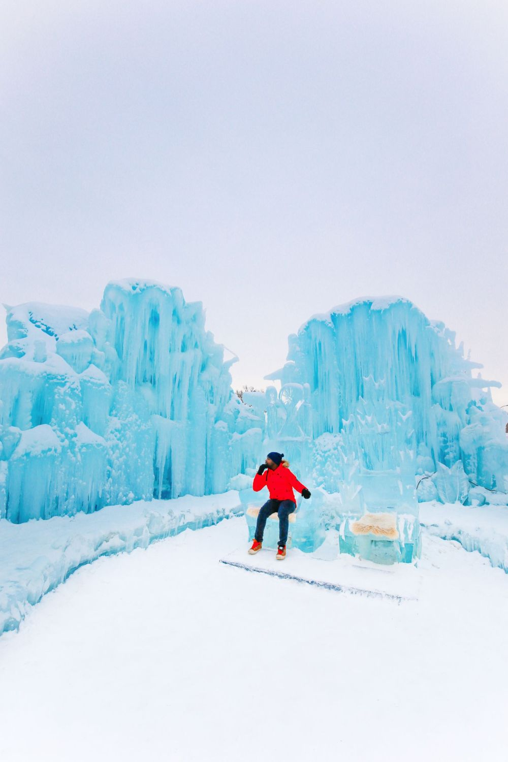 Fat Biking Across The Frozen River Valley To The Ice Castles Of Edmonton, Canada (54)