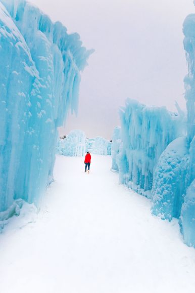 Fat Biking Across The Frozen River Valley To The Ice Castles Of Edmonton, Canada (57)