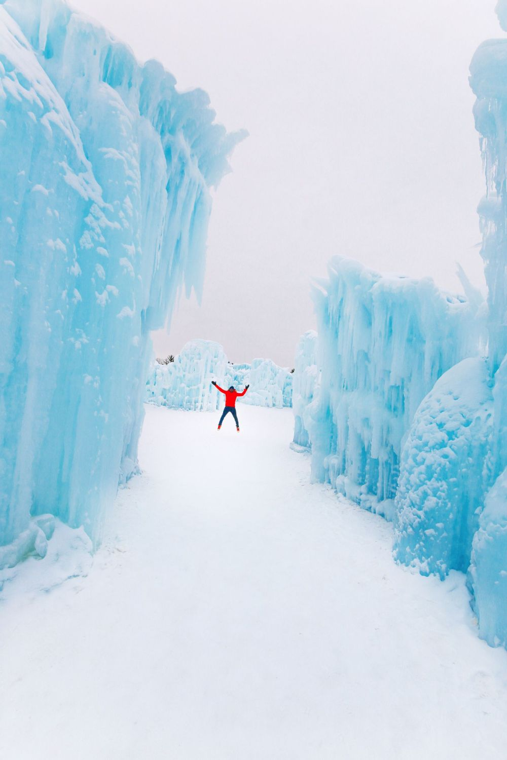 Fat Biking Across The Frozen River Valley To The Ice Castles Of Edmonton, Canada (58)