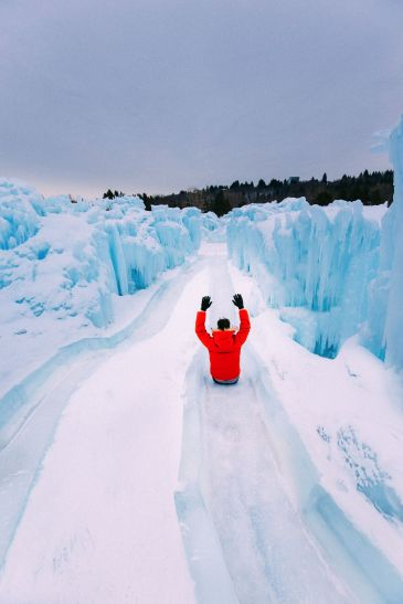 Fat Biking Across The Frozen River Valley To The Ice Castles Of Edmonton, Canada (67)
