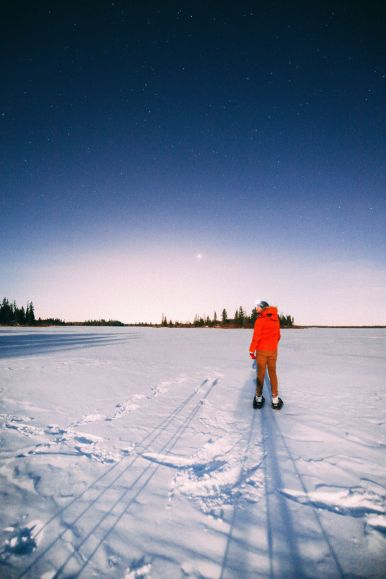 Midnight Moonlight Snowshoeing... In Edmonton, Canada (46)