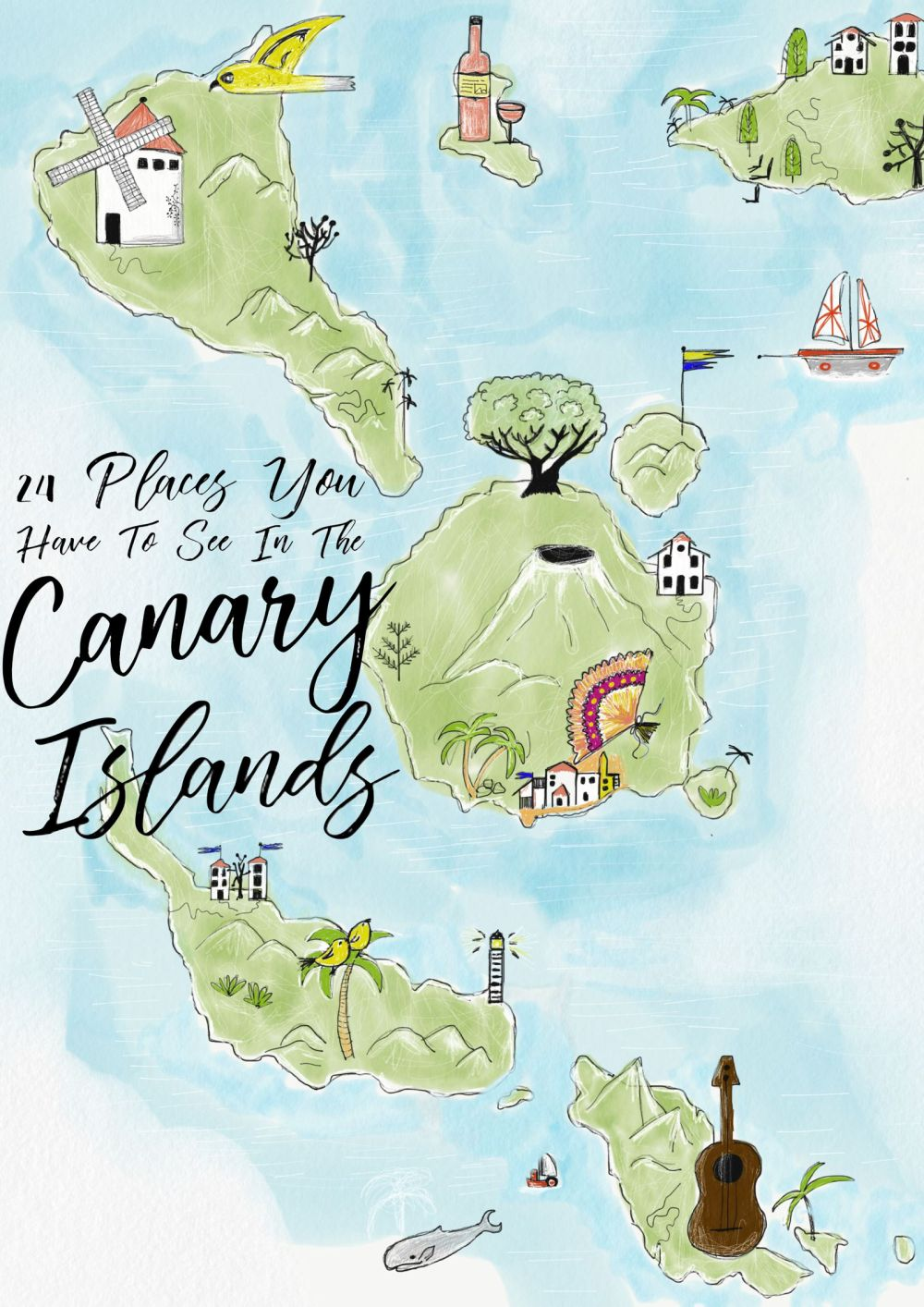 Map canary islands