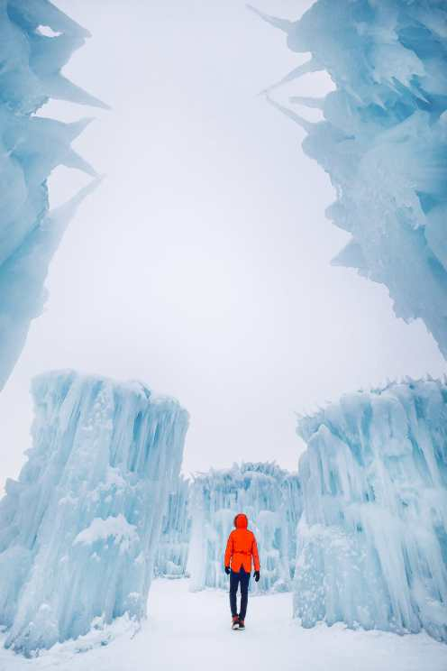 Ice Castle In Alberta, Canada (2)
