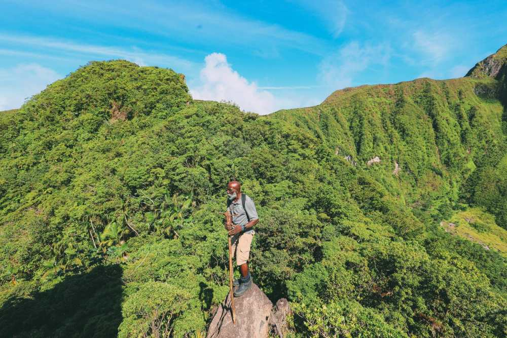 Hiking To The Top Of A Volcano... In the Caribbean! (21)